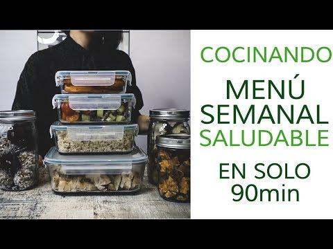 MENÚ SEMANAL SALUDABLE EN 90MIN (BATCH COOKING)  | Qué comer en el trabajo