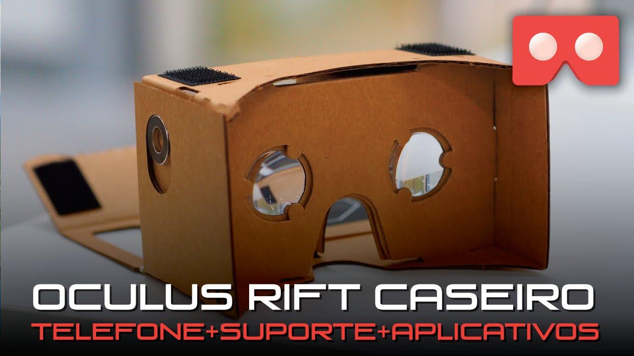7bec505423b Tutorial - Oculus Rift Caseiro - Transforme seu celular em um óculos de realidade  virtual - YouTube