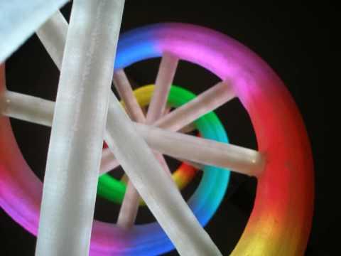 LED DNA - LOGO 3D / Shining Epoxy Laminate / Reklama dynamiczna