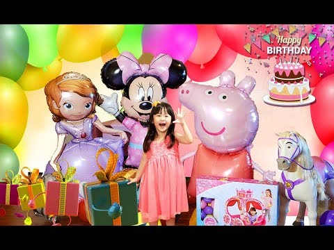 Kaylee's 4th Birthday Celebration!!! With Surprised Toys For Kids