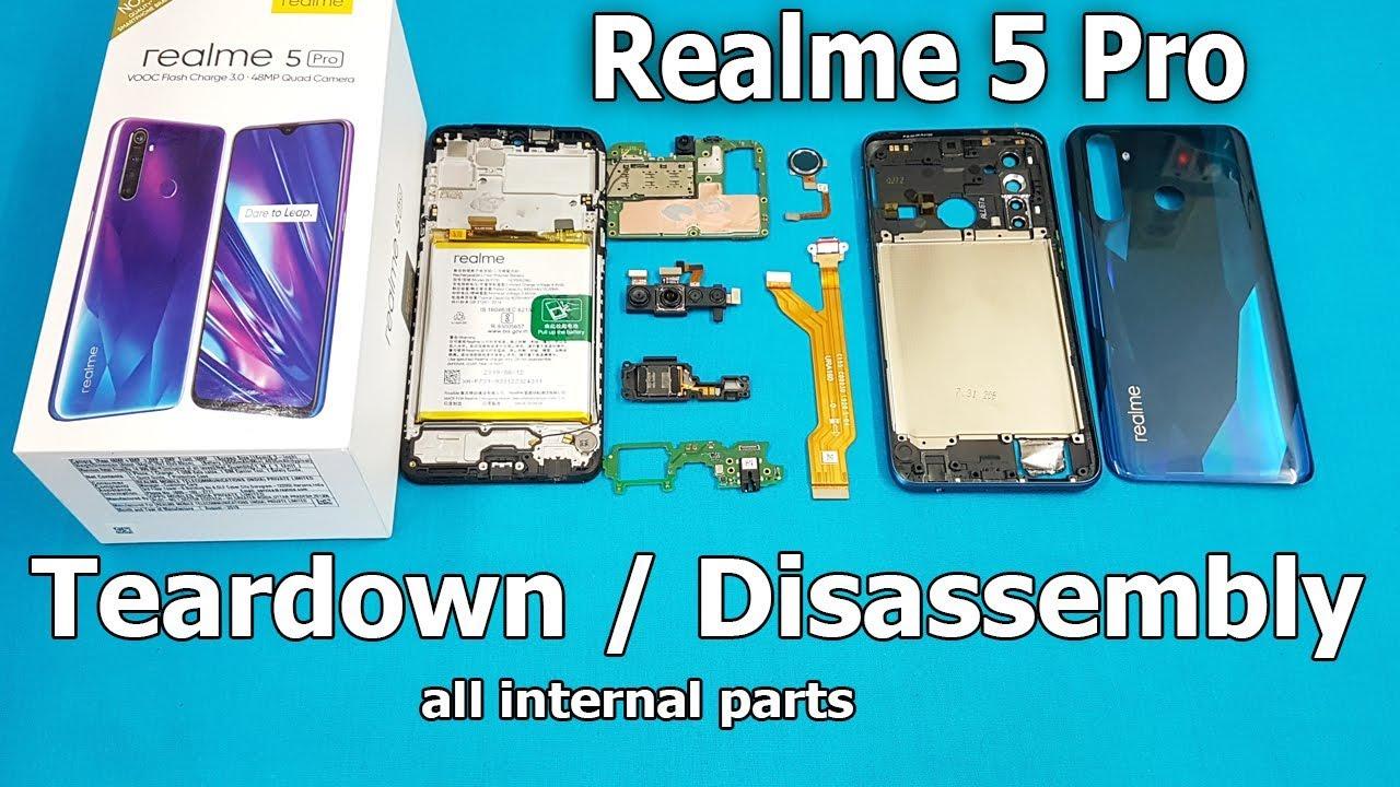 How to Open Realme 5 Pro / Realme XT Back Panel to Disconnect Battery    Realme  5 Pro Teardown - YouTube