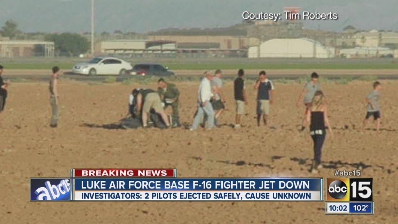 luke air force base f16 fighter jet crashes youtube