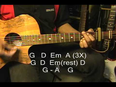 Jefferson Airplane Somebody To Love Acoustic Guitar Lesson Capo 2