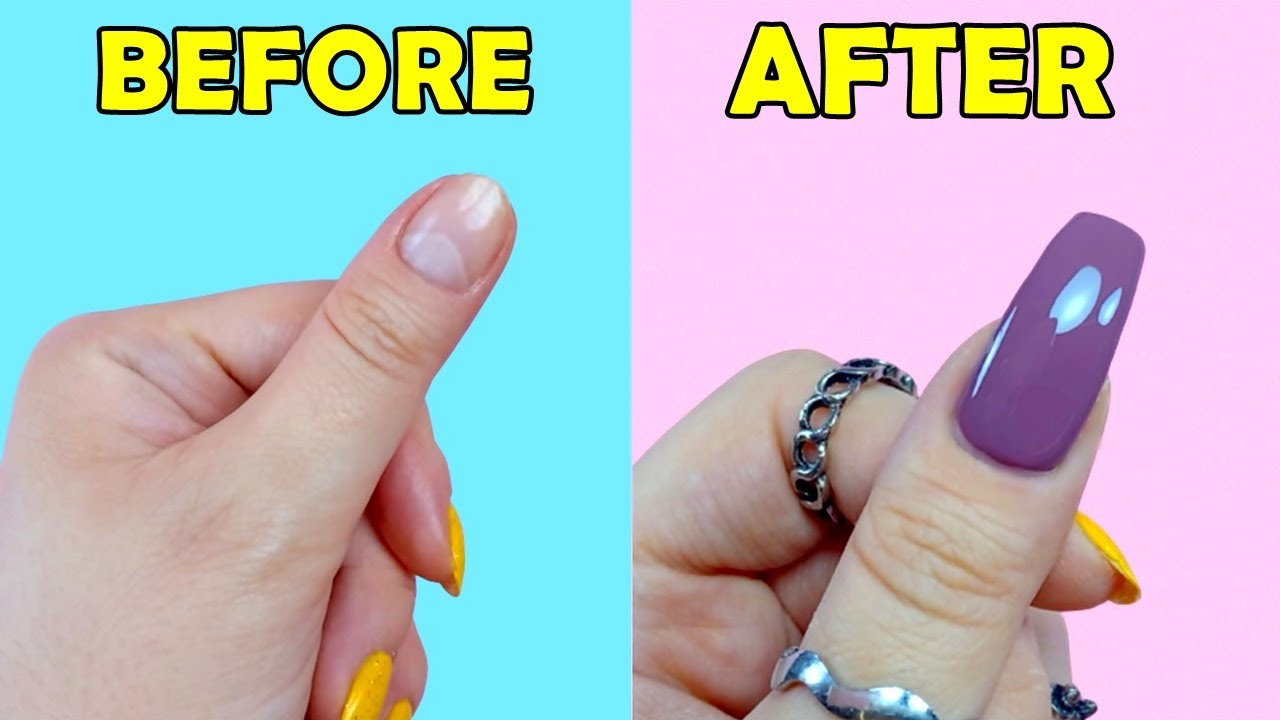 HOW TO MAKE FAKE NAILS WITH HOME MATERIALS