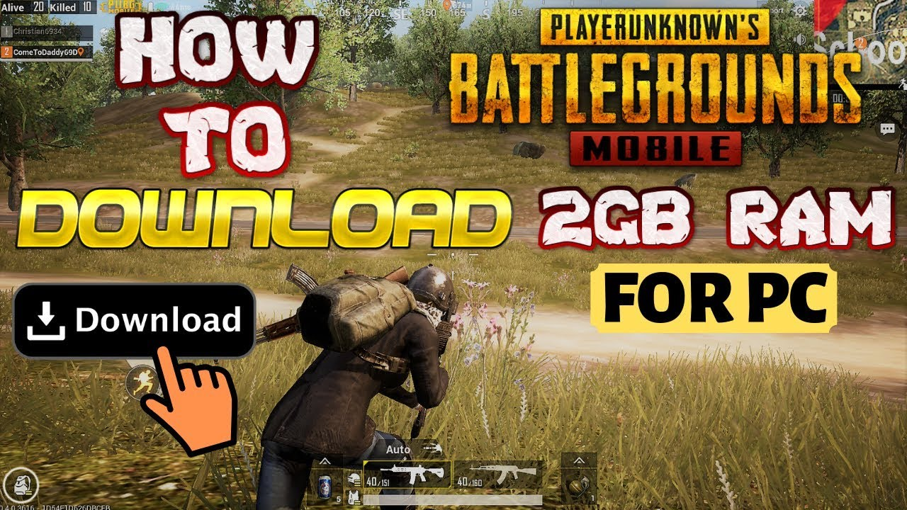 How to play pubg mobile on pc 2gb ram without graphics card