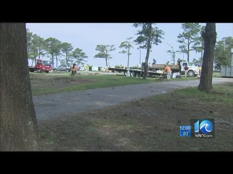 Chris Horne on Cherrystone Campground community cleanup