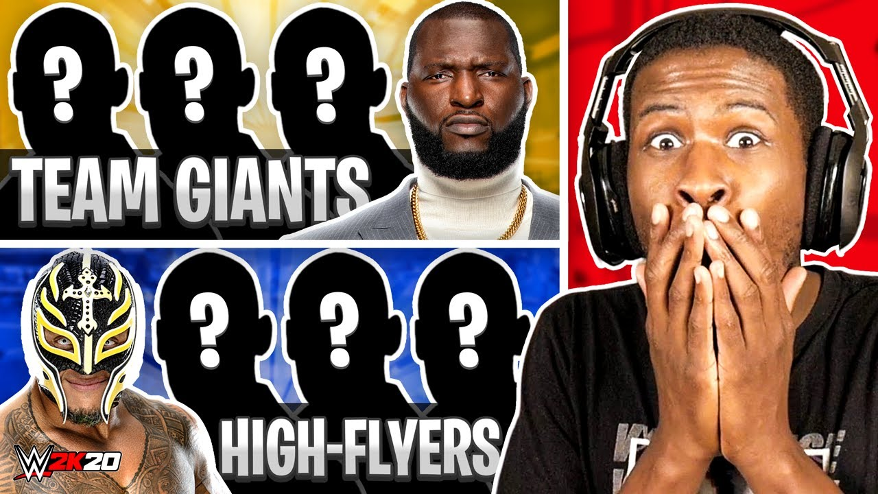 WWE 2K20 - 4 GIANTS vs 4 HIGH FLYERS!