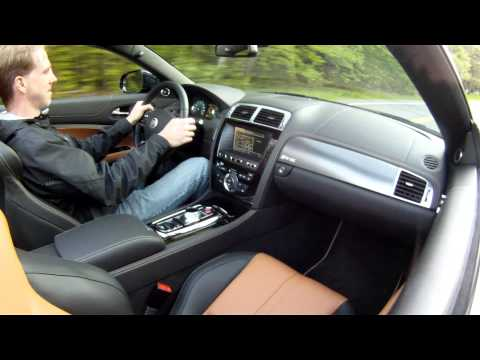 2012 Jaguar XKR-S Convertible - Drive Time Review with Steve Hammes