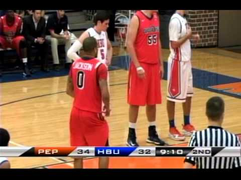 ncaa-basketball:-pepperdine-university-vs.-houston-baptist-university
