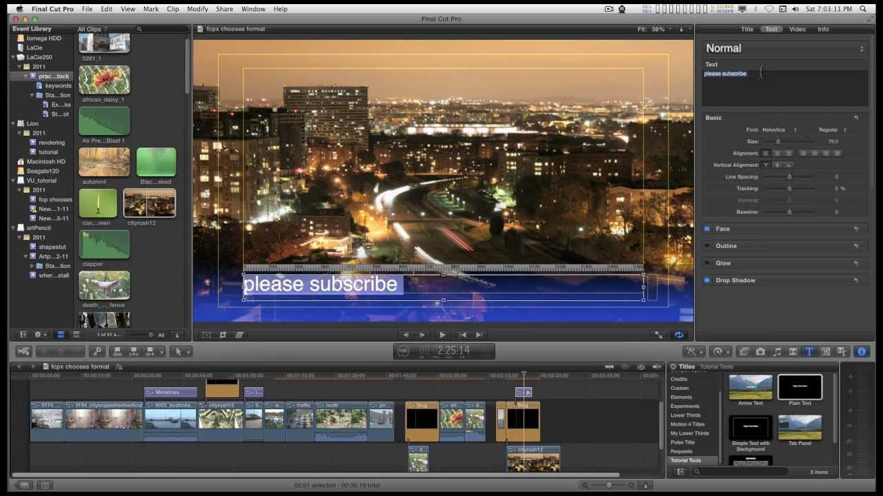 Final Cut Pro X (FCPX) Generator: Video Slug (and it's only 27KB)