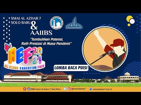Lomba Baca Puisi AEF (Al Azhar Education Fair) 2021 - Scarlet Destina Maharani (SMPTQ Abi -  Ummi)