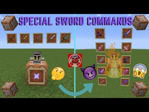 Command Block Tutorial #40: Special Sword Commands In Minecraft (1.14+) With Custom Enchantments
