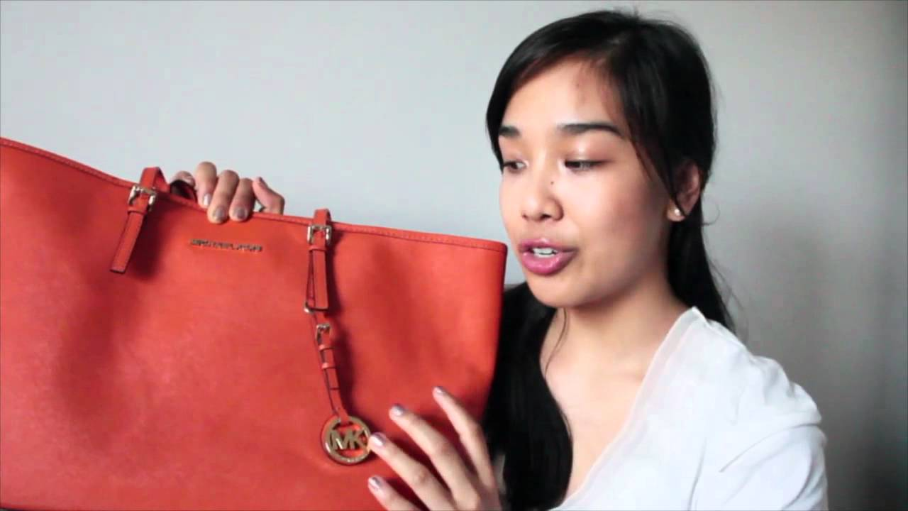 Bag Review Michael Kors Jet Set Travel Tote Youtube Jetset Lugagge Authentic