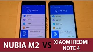 Nubia M2 vs Xiaomi Redmi Note 4 ( Speed Test, Camera Test, Antutu Benchmark)