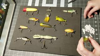 Creating a shadow box display for vintage fishing lures