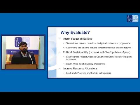 Evaluations and evidence synthesis for social programmes | 3ie Delhi seminar | Francis Rathinam