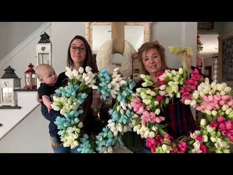 Tulip Wreath Tutorial: Priscilla & Chelsea-The Real Housewives of Cross Stitch