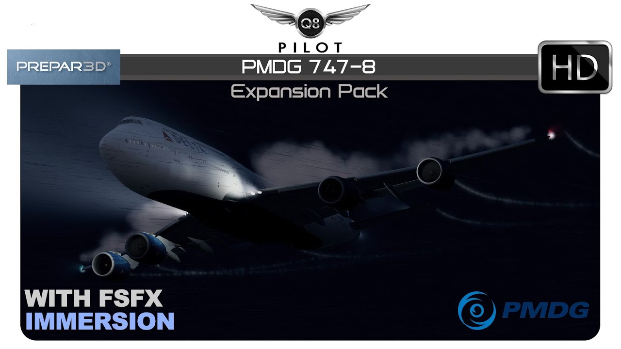 P3Dv4 | PMDG 747-8 Expansion with FSFX Immersion | First Look