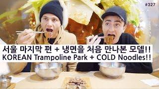 서울 마지막 편! + 냉면을 처음 만나본 미국 모델!! (327/365) KOREAN Trampoline Park + COLD Noodles!!