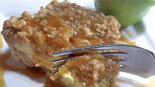 Caramel Apple Crisp Cheesecake Bars Recipe (haaave Mercy!)