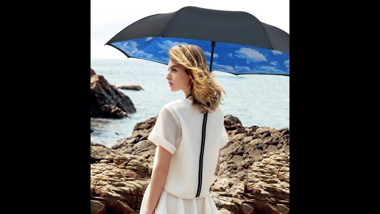 Зонт обратного сложения (зонт наоборот). Купить зонт обратного .