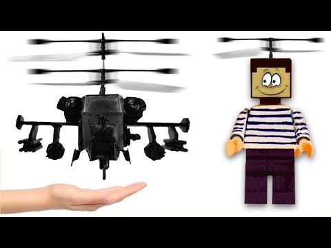 НУБ ИЗ МАЙНКРАФТ НАУЧИЛ ЧЕРНУЮ АКУЛУ ЛЕТАТЬ ! Как сделать вертолет Ка-50 из картона у себя дома !