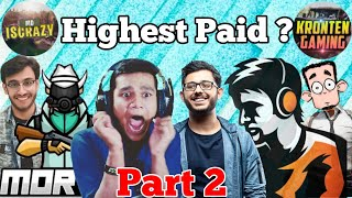 Top 10 highest Superchat / Donation in Indian gaming | Dynamo Gaming, carryislive, beastboyshub