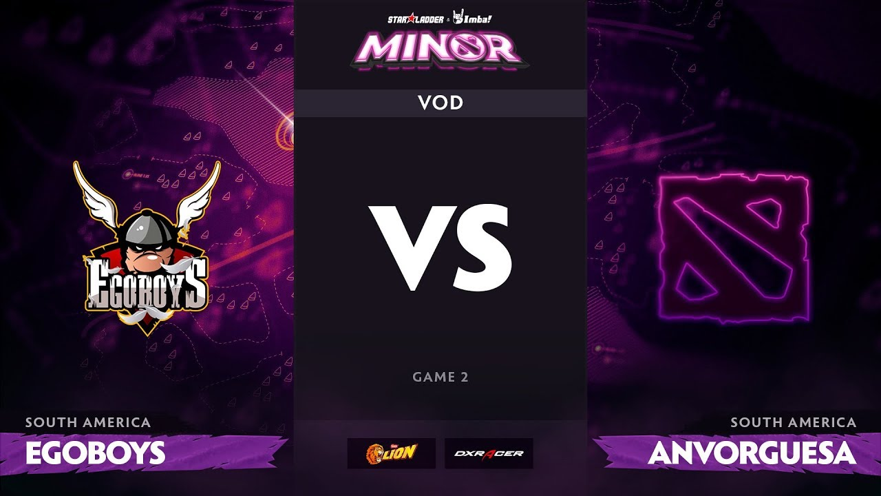 [RU] EgoBoys vs Anvorguesa, Game 2, StarLadder ImbaTV Dota 2 Minor S2 SA Qualifiers