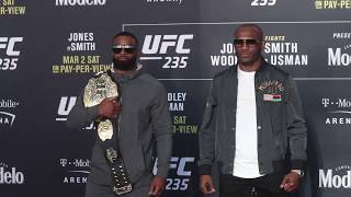 UFC 235 Media Day: Tyron Woodley vs. Kamaru Usman Face Off