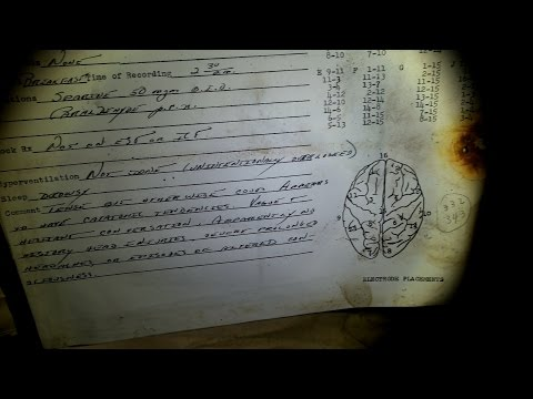 ABANDONED ASYLUM ( discovered brain waves data paper )