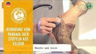Anweisungen zur Reinigung Deiner Panama-Jack-Stiefeln in Velour/Nubuk