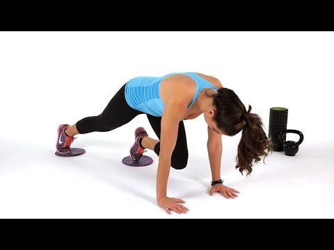 How to Do a Mountain Climber w/ Gliders | Abs Workout