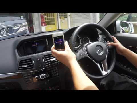 Mercedes Benz E Coupe (W207) - Wireless mirror link - YouTube