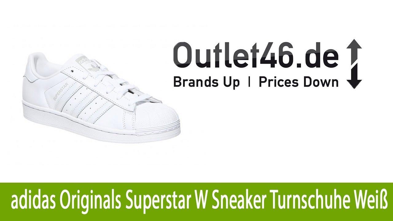 huge discount 4d91c ac57a Coole adidas Originals Superstar W Sneaker Turnschuhe Weiß günstig online  kaufen   Outlet46.de