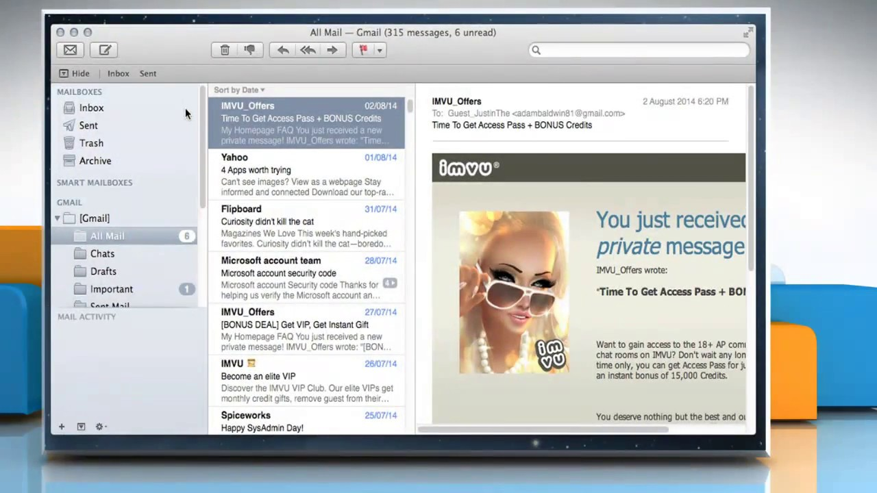 How to archive messages in the Mail app of Mac® OS X™