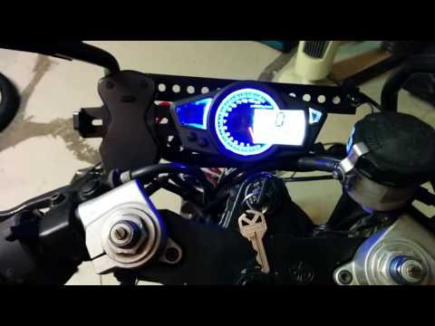 Thumbnail: Chinese import gauge speedo installed on 05 yzf600