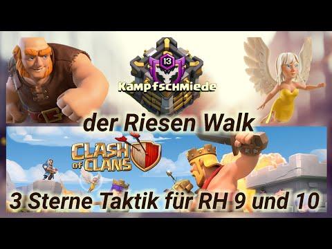 Riesen Walk 3 Sterne Kämpfe RH 9 + 10 | Clash of Clans Deutschland CoC