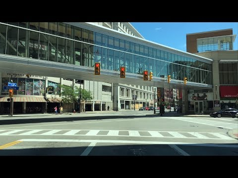 Driving Downtown - Superior Avenue - Cleveland Ohio USA