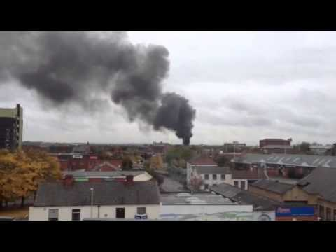 Fire in Leicester city centre