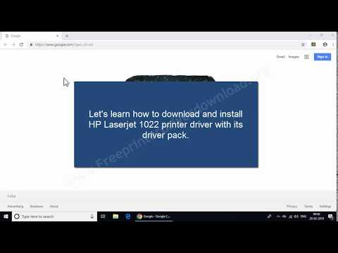 How To Install Hp Laserjet 1022 Printer In Windows 7 Using Its Online Driver Pack