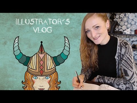 A Day in the Life of a freelance Illustrator - Vlogmas#1