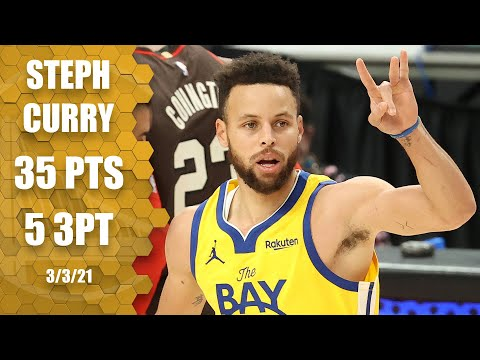 Steph Curry goes off for 35 points in Warriors vs. Trail Blazers Highlights  NBA on ESPN