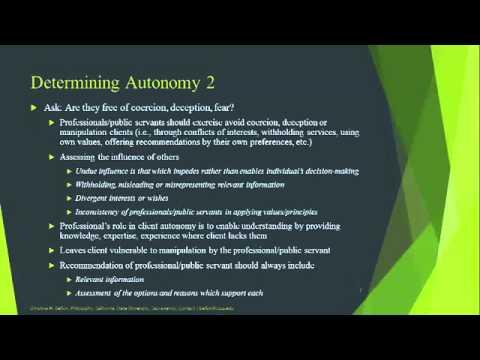 LM5A Respecting Autonomy