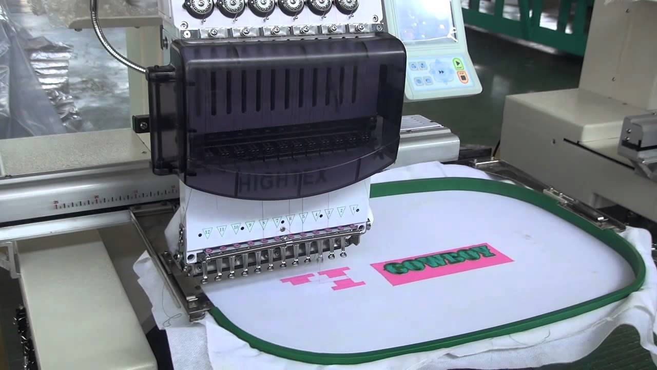 Beliebt Machines à broder industrielles mono-tête - YouTube PD79