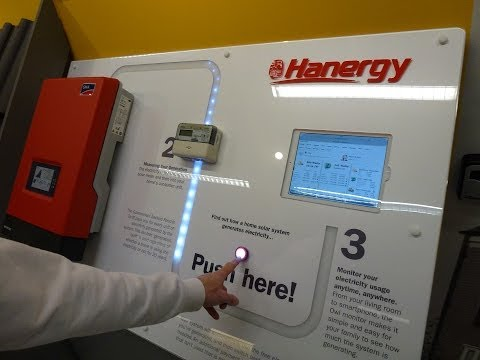 Interactive exhibition display, installation throughout Ikea uk stores for Hanergy