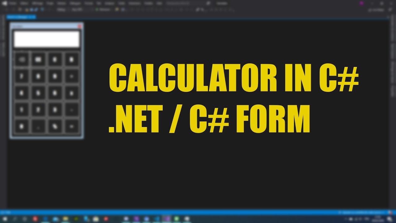 C# Form Calculator | C# .net
