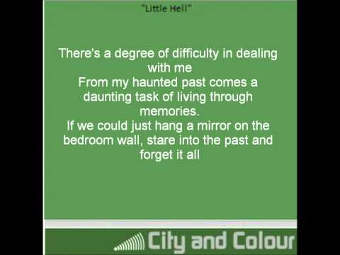 City and Colour - Little Hell (Lyrics on screen)