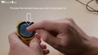 How to pair headphones with WatchOut NextGen Kids Smart Watch