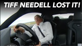 Tiff Needell G-force demonstration in BMW M4 at Thruxton with no neck muscles! (Just for Fun!)
