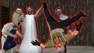 Granny vs Aliashraf vs Evil Nun vs IceScream 3 funny animation 81-90 parts